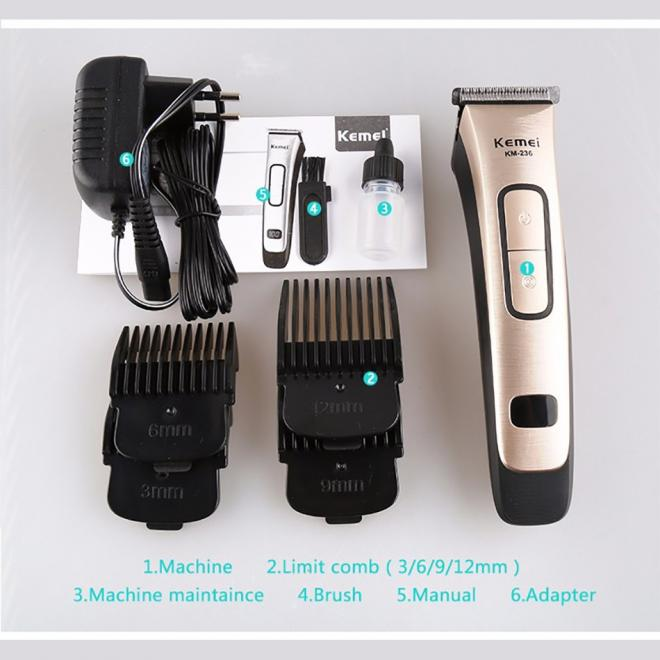 Kemei New Exclusive Original Electric Rechargeable Hair Trimmer Universal Voltage Hair Clipper with LED Screen KM